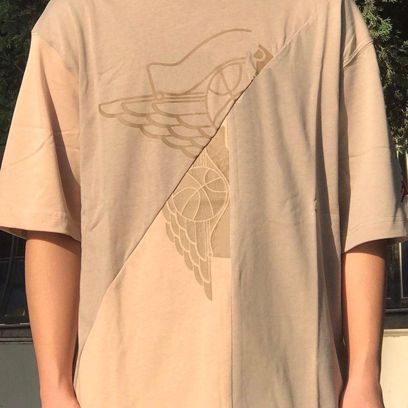 2021 USA Parigi Travis Cactus Pallacanestro Collaborato Collaborato Patchwork Tee Ricamo Skateboard Mens T Shirt Donne Street Casual Tshirt