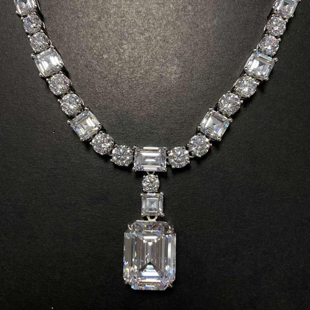 HBP Fashion New S925 Sterling Silber Inlaid White High Carbon Diamant Damen Tassel Luxus Exquisite Halskette