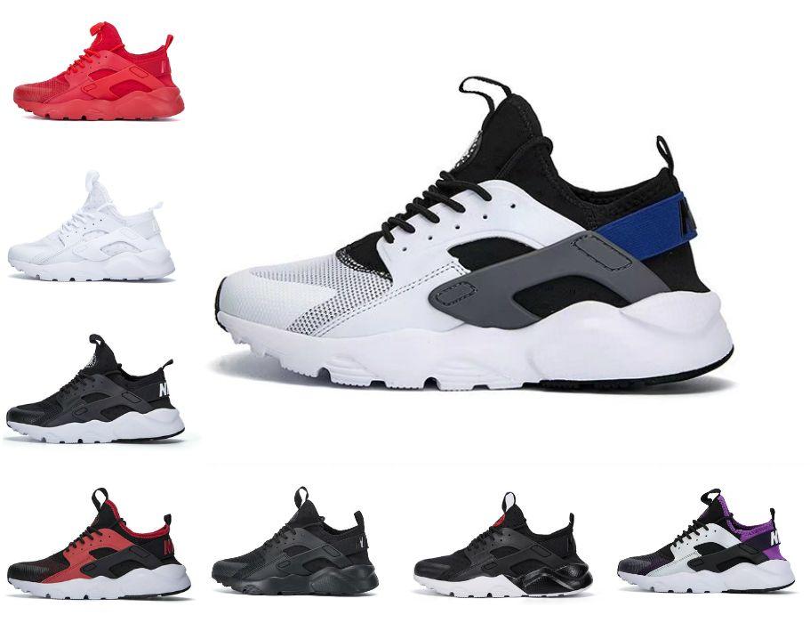 En Kaliteli Huarache 1.0 4.0 Erkekler Koşu Ayakkabıları Ucuz Airs Şerit Kırmızı Balck Beyaz Gül Huarakes Kadın Eğitmen Açık Tasarımcı Sneakers