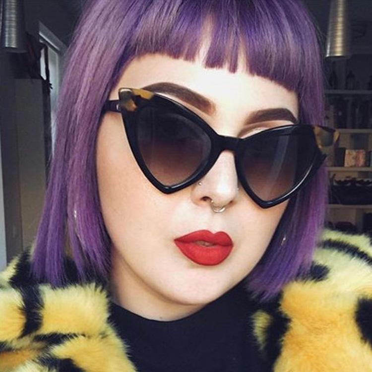 Урожай Cateye Солнцезащитные очки Женщины Дизайнер Голубое Зеркало Солнцезащитные Очки Ретро Черные оттенки Для Женщин UV400 8 Цвета 10 шт. Быстрая корабль