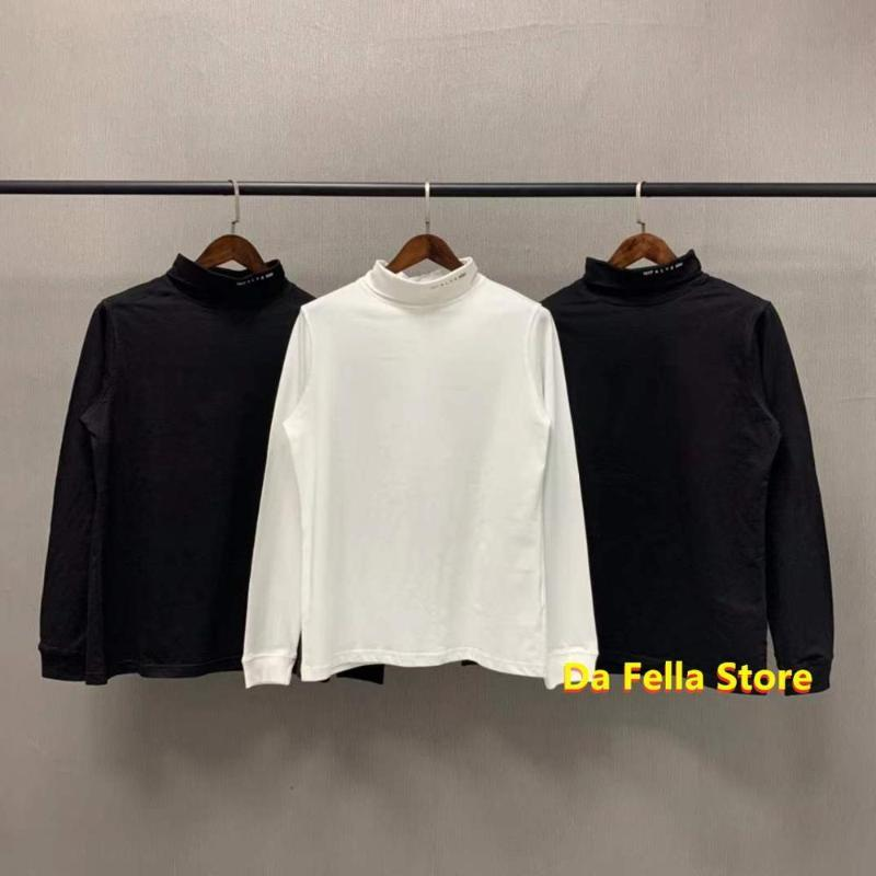 Erkek T-Shirt Uzun Kollu Alys T-Shirt 20fw Erkek Kadın Boyun Çizgisi 1017 9SM Logo Tee Yüksek Kalite Balıkçı Yaka Asya Boyutu Tops