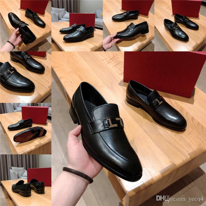 럭셔리 캐주얼 신발 낮은 뒤꿈치 가죽 비즈니스 신발 디자이너 망 미끄럼 방식 로퍼 정장 드레스 신발 남성을위한 웨딩 파티 드라이브 신발