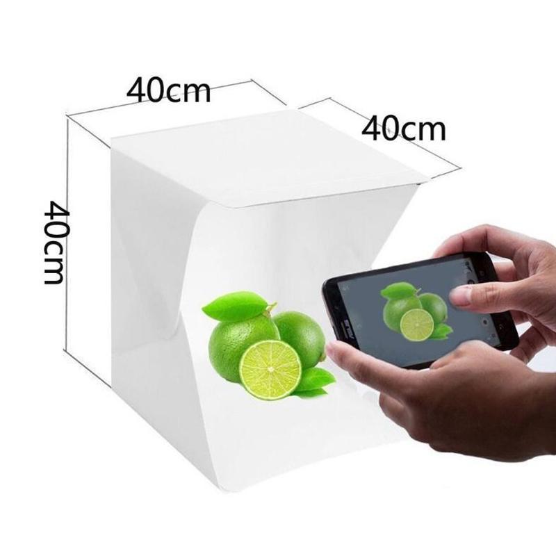 40 см мини фото студия коробка фотография фона встроенный светло-фото коробка маленькие предметы фотографии коробка студии аксессуары