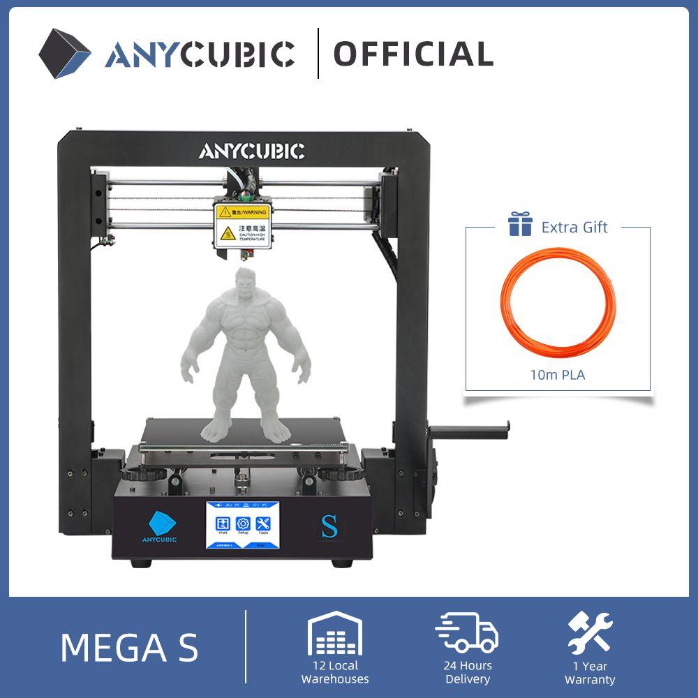 Anycubic Mega S 3D Drucker I3 Series Upgrade Full Metal Frame Impresora drucken Hochpräzise DIY-Drucker
