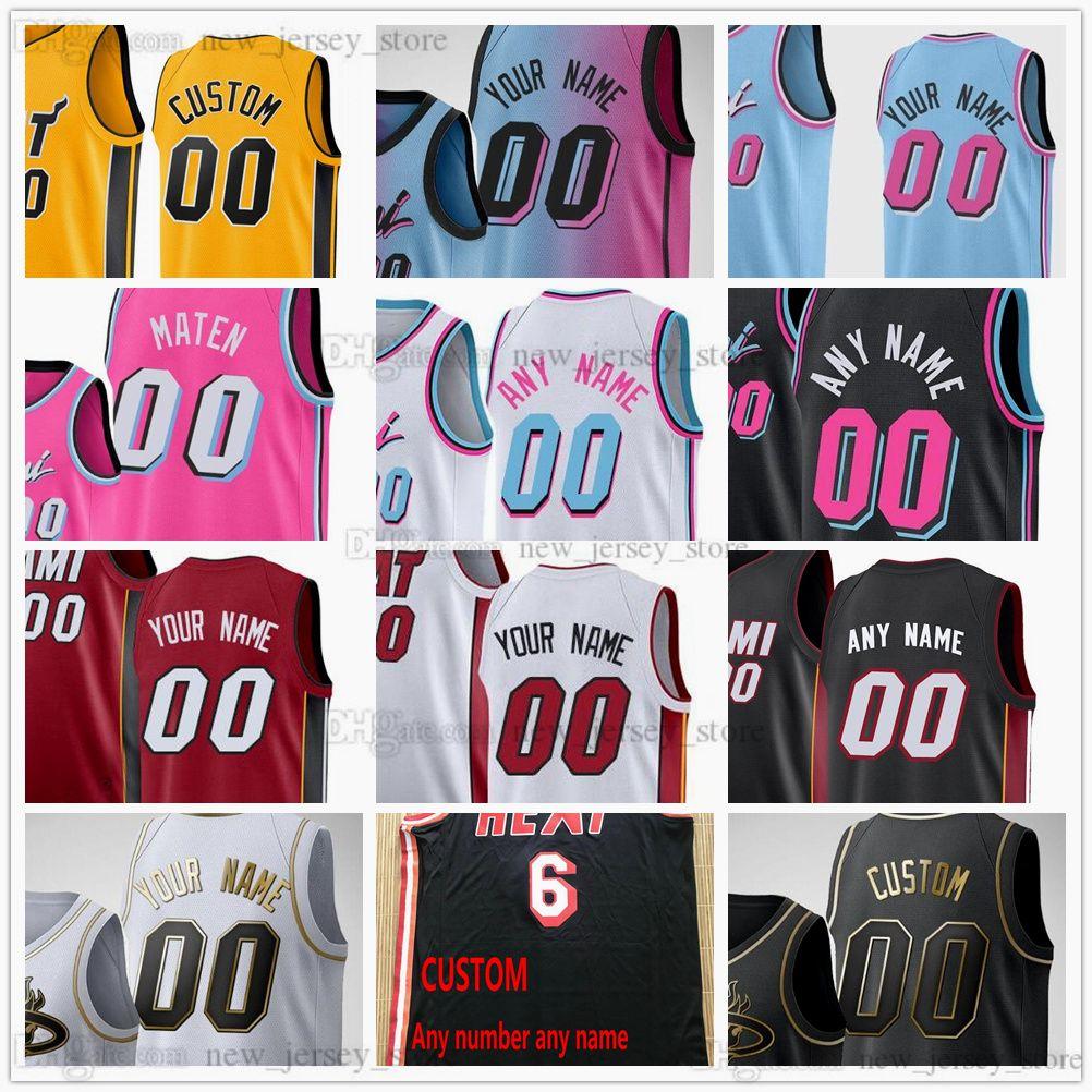 Custom Impress Basketball Wade 22 Jimmy 4 Victor Butler Oladipo 14 Tyler Hero 13 BAM Adebayo 25 Kendrick Nunn 55 Duncan Robinson 8 Trevor Ariza 77 Yurtseven Jerseys
