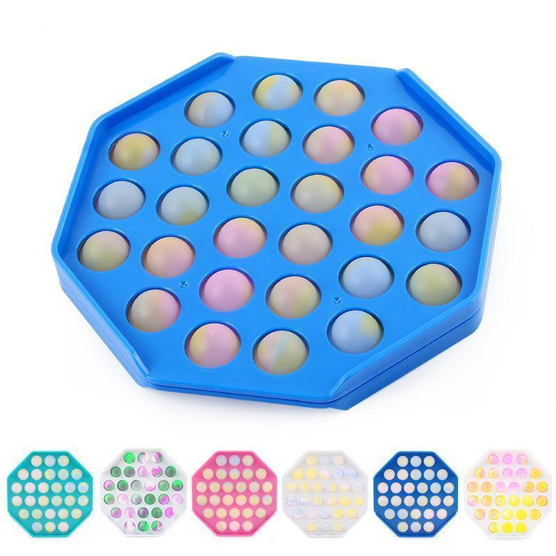 압축 해제 장난감 팝 장난감 Fidget Sensory Push Bubble Board 게임 불안 스트레스 릴리버 어린이 성인 자폐증 특별 요구 판매
