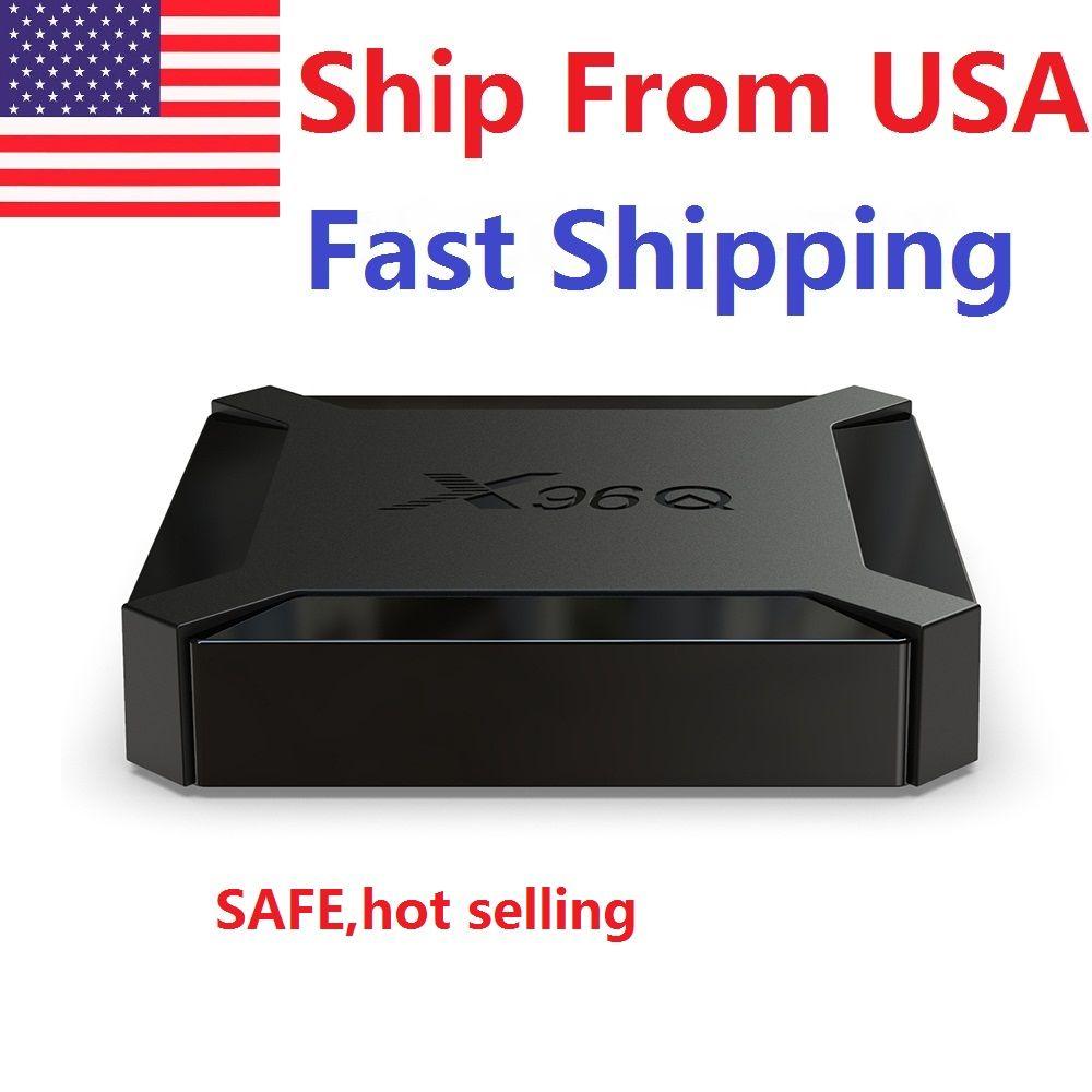Expédier à partir de USA x96Q TV Boîte Android 10.0 2GB RAM 16GB Smart Allwinner H313 Quad Core Netflix YouTube Set Top Box