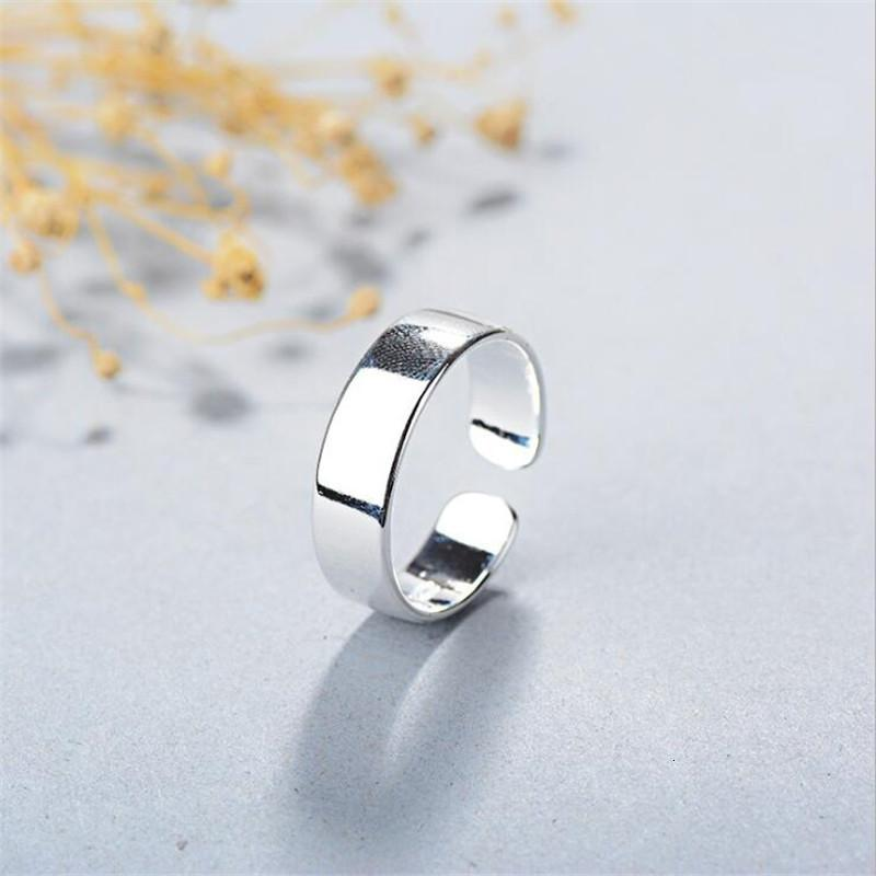 Cluster Rings Gifts Simple Creative Smooth 925 Sterling Sier Jewelry Not Allergic Temperament Round Inisex Fashion Opening Sr209