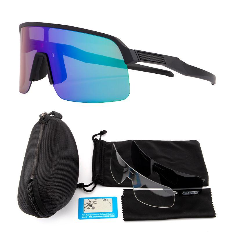 جديد نظارات الدراجات الاستقطاب الرياضة نظارات في الهواء الطلق الدراجات الدراجات نظارات النساء الرجال دراجة نظارات uv400 3 عدسات مع القضية