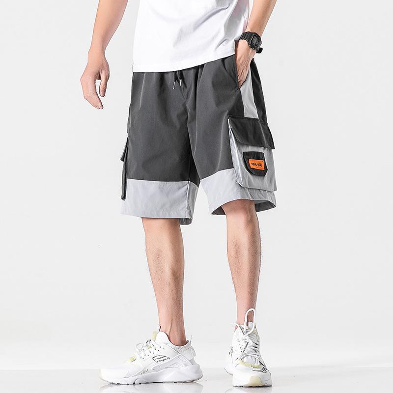 Perth grandi pantaloncini di colore moda colore contrasto dritto capris pantaloni casual da uomo sciolto da uomo