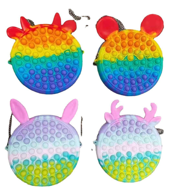 Push Bubble Bag Kids Adult Novelty Fidget Simple Toy Sensory Toys Bags Finger Bubbles Game DHL Shipping