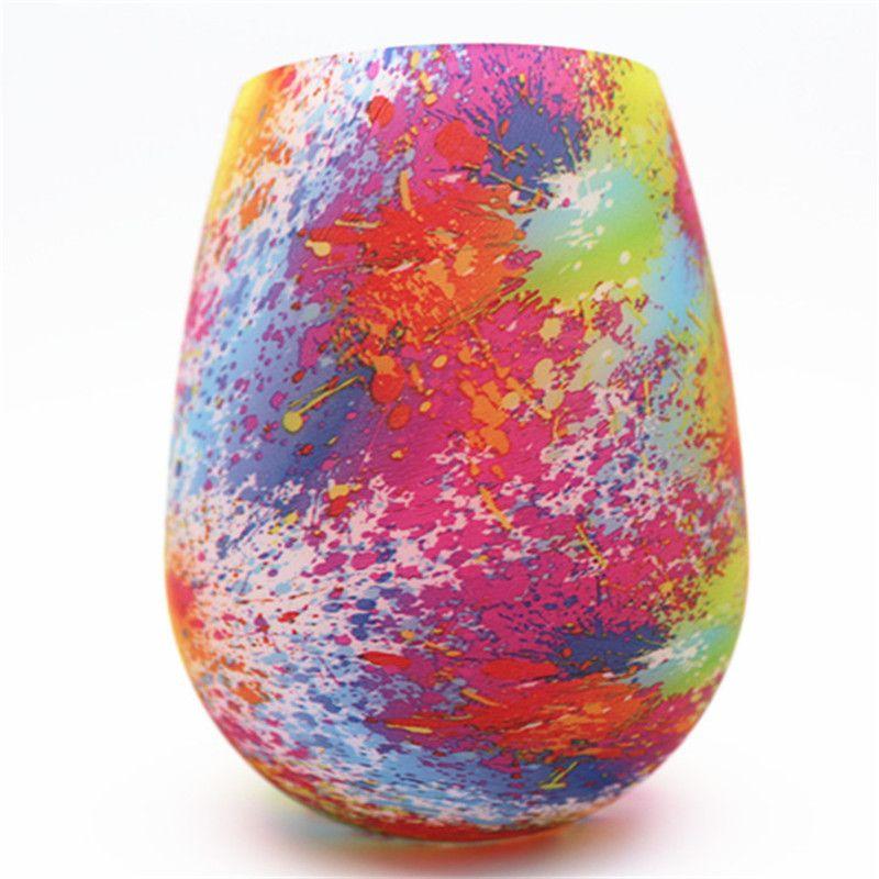 Силиконовые бокал Eco-Friendle Anti-Fall Anti-Skid Кубок воды складной красочный пивной контейнер портативный