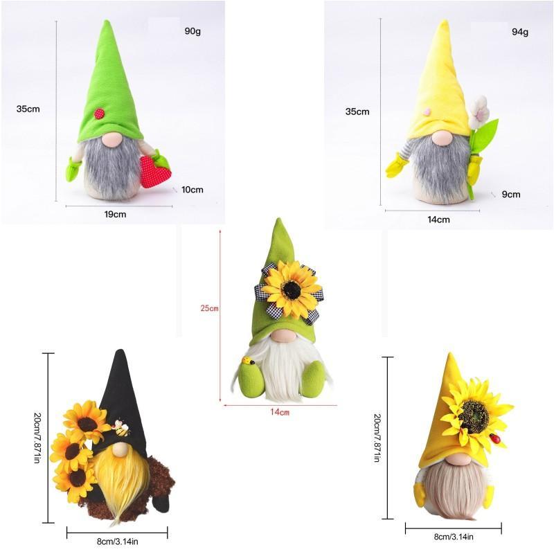 Anneler Günü Cüceler Parti Hediye-Bahar Çiçekler Cüce Ev Dekorasyon El Yapımı Yüzsüz Peluş Bebek Arı Festivali Masaüstü Süsleme