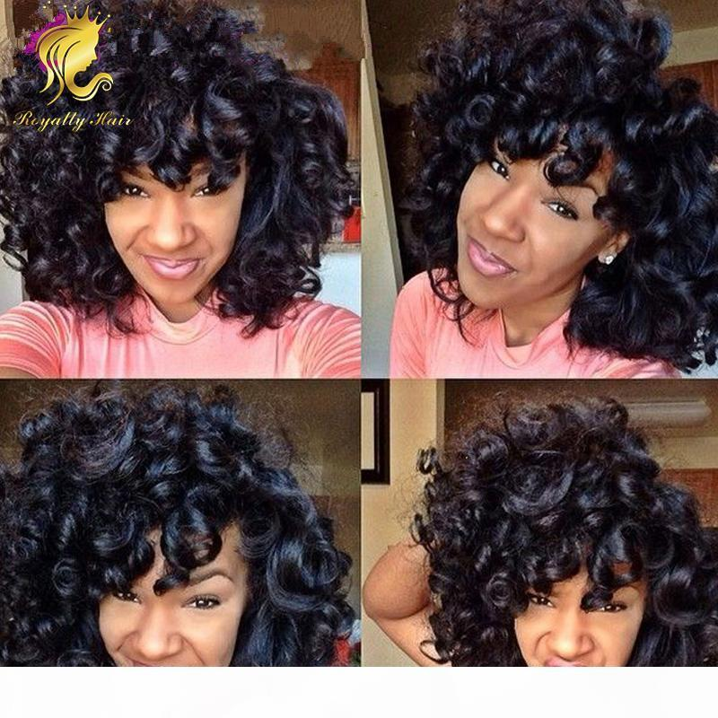 Malezya Tutkalsız Tam Dantel İnsan Saç Peruk Kısa Kıvırcık Bob Peruk İnsan Saç Tam Dantel Wigslace Ön Bob Peruk 130% Yoğunluk