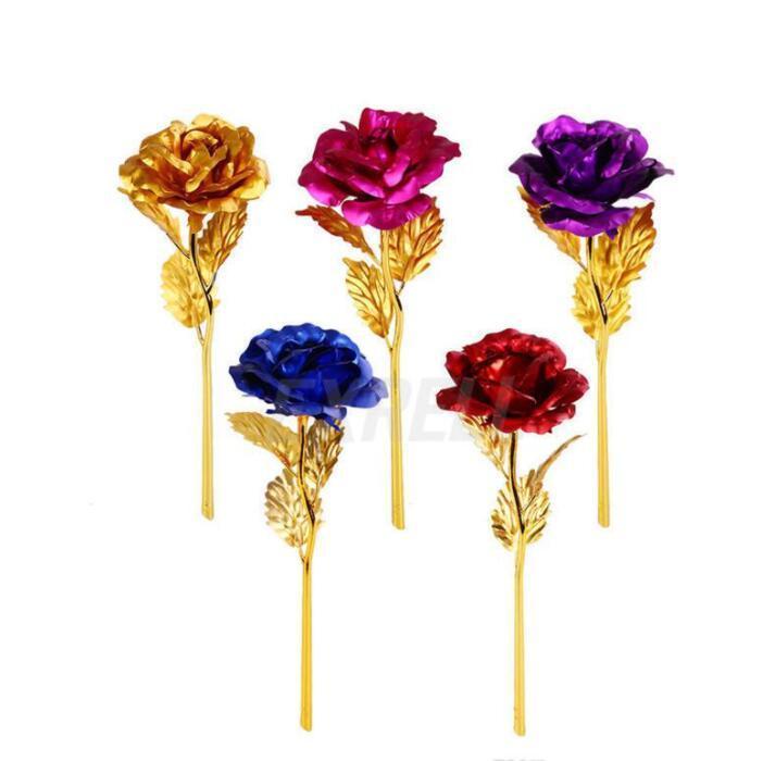 أزياء 24 كيلو الذهب احباط مطلي روز الهدايا الإبداعية تستمر إلى الأبد روز ل عاشق زفاف عيد الميلاد هدايا المنزل الديكور