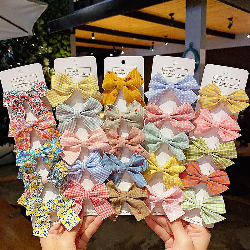 헤어 액세서리 5 PCS / 세트 소녀 귀여운 bowknot 머리핀 어린이 달콤한 barrettes 클립 패션 키즈 머리웨어 1443 b3