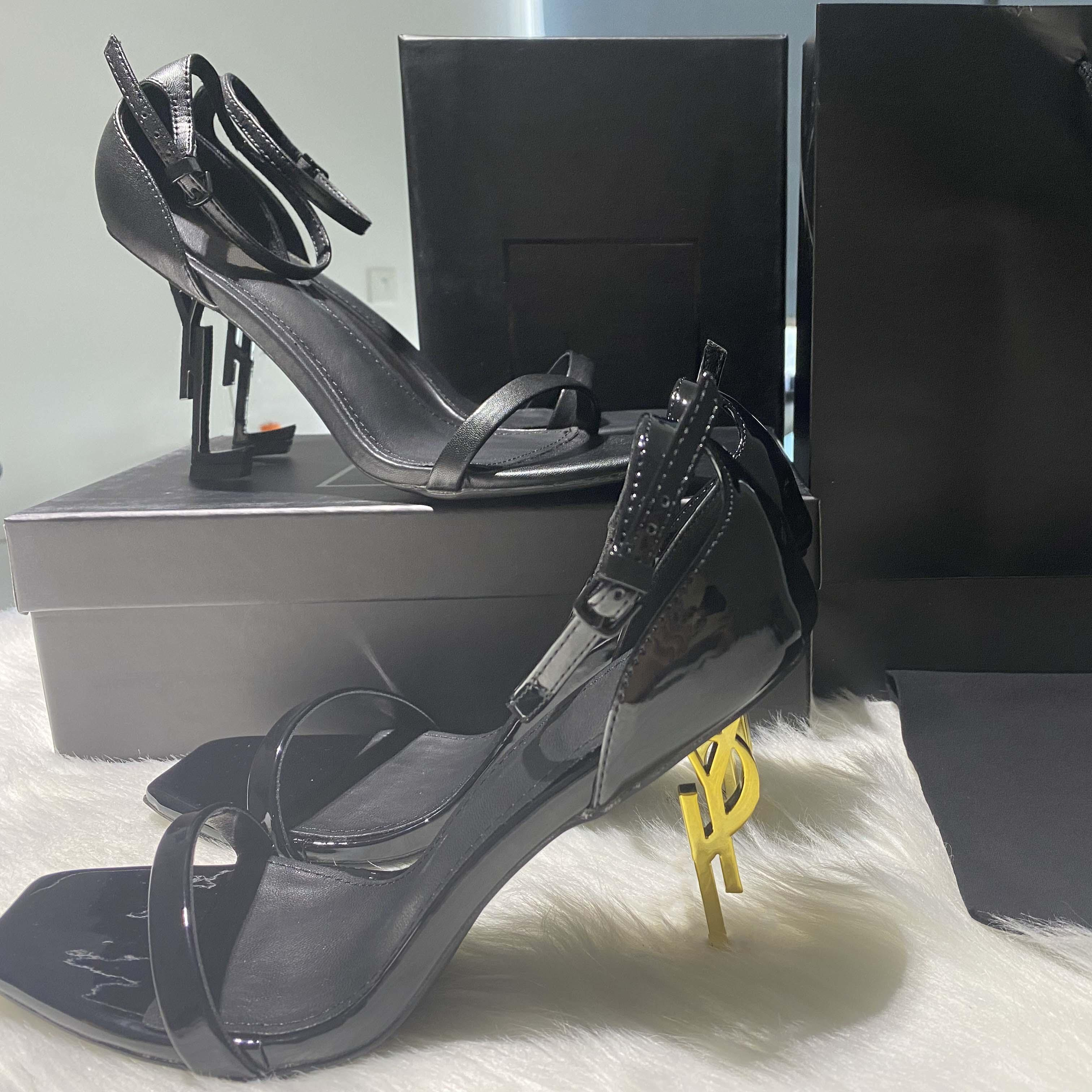 Classics Women Shoes Sandals Tacones Moda Playa Playa Grueso Inferior Vestido Zapato Alfabeto Lady Sandal Cuero Talón alto Tallón por casa 011 06