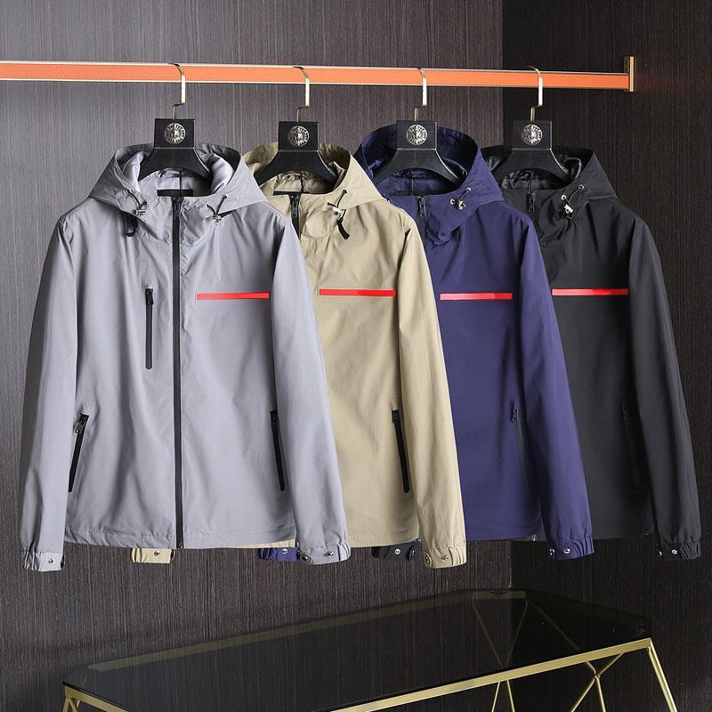 패션 망 재킷 봄 가을 outwear 스포츠 외부 스포츠 아시아 크기 남성 디자이너 의류 외부 스포츠의 후드 자켓 코트