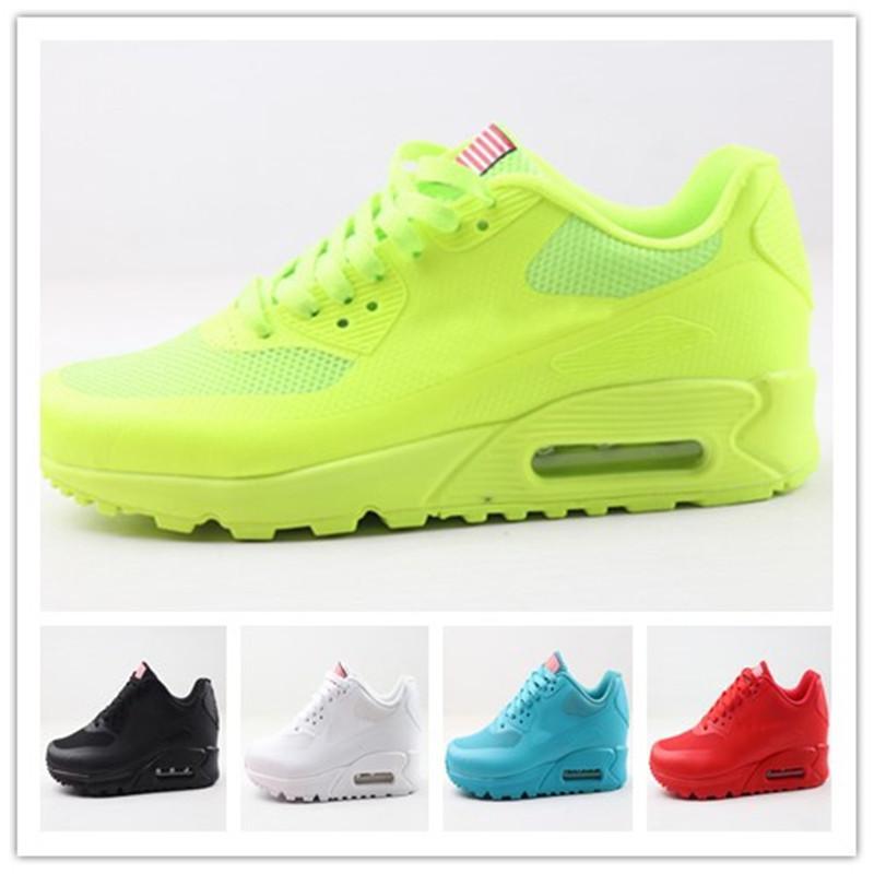 2020 رخيصة بيع الرجال النساء 90 hyp prm qs الاحذية مصمم الاستقلال يوم zapatillas الولايات المتحدة الأمريكية العلم الرياضة أحذية رياضية الحجم 36-46