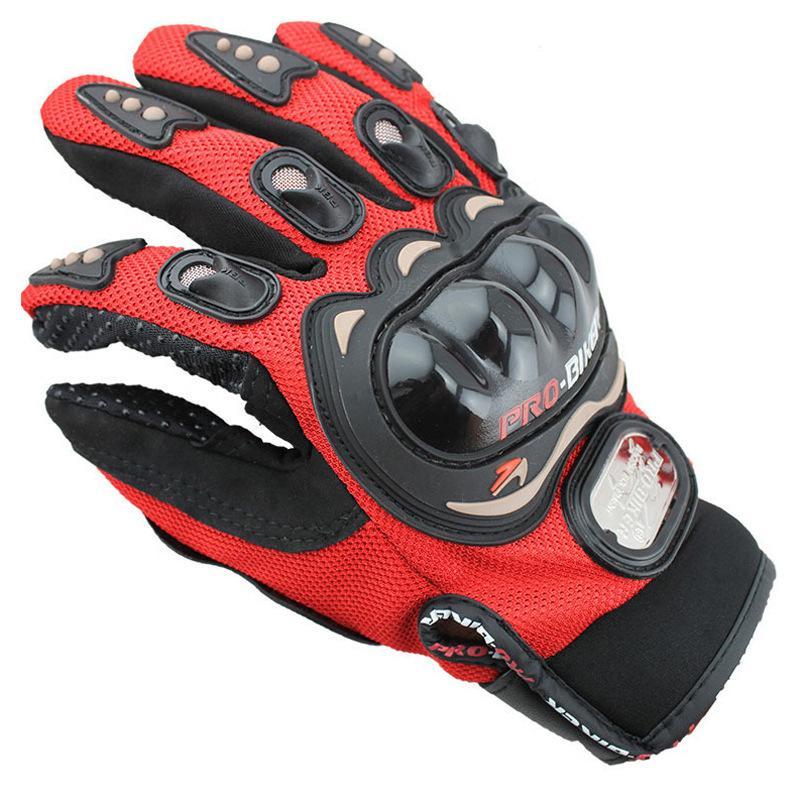 الرياضة في الهواء الطلق كامل الاصبع رايدر ركوب دراجة نارية قفازات 3D تنفس شبكة النسيج الرجال الجلود