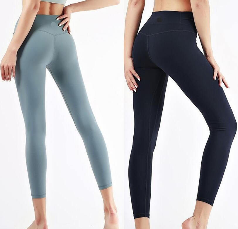 Sport Hose Design Richten Sie Yoga LL Leggings Frauen Yoga Spandex Material Womens Gym Gitgings Elastische Fitness Dame Gesamt Vollstreckchen Training