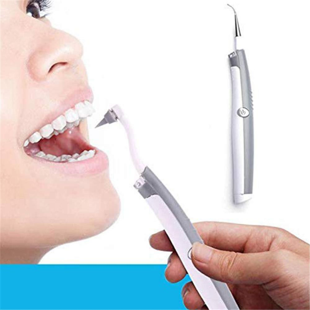 Ultrasonic Tooth Cleaner Dental Calculus Remover Portable Teeth Whitening Water Spray Stains polisher