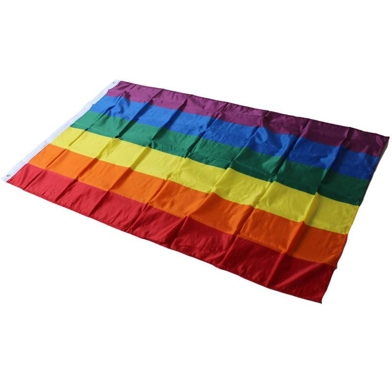 Flaggen 90x150cm Gay Pride Rainbow Banner Transgender Lesbian LGBT Polyester Flagge Party Supplies