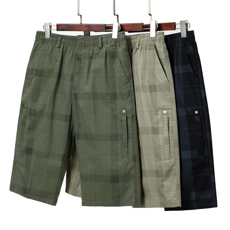 Pantaloncini da uomo Plaid Summer Estate Multi-Pocket Cargo Mens SportSear Sportswear Casual Short Sweatpants Men 2021 Abbigliamento stampato