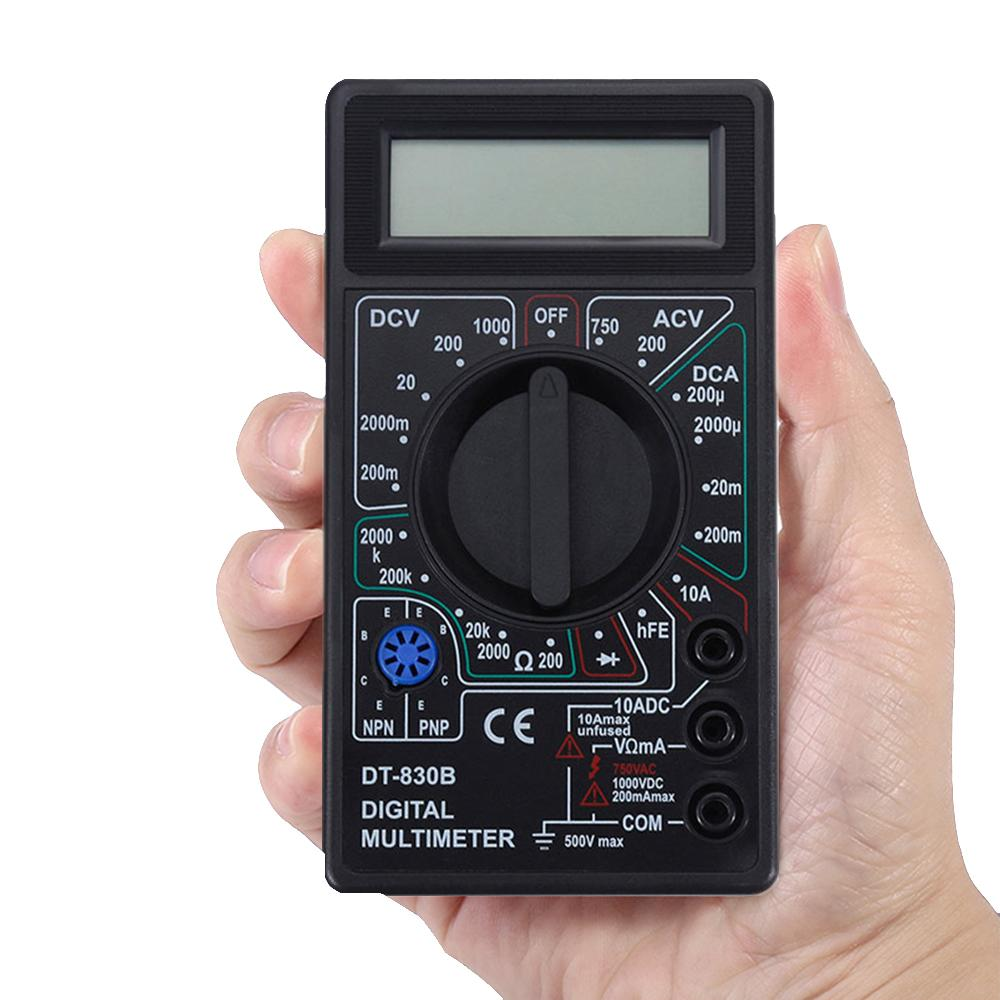 Multimetro digitale multimetro LCD AC / DC 750 / 1000V Mini multimetro palmare digitale per Voltmeter Ammeter Ohm Tester Meter con sonda