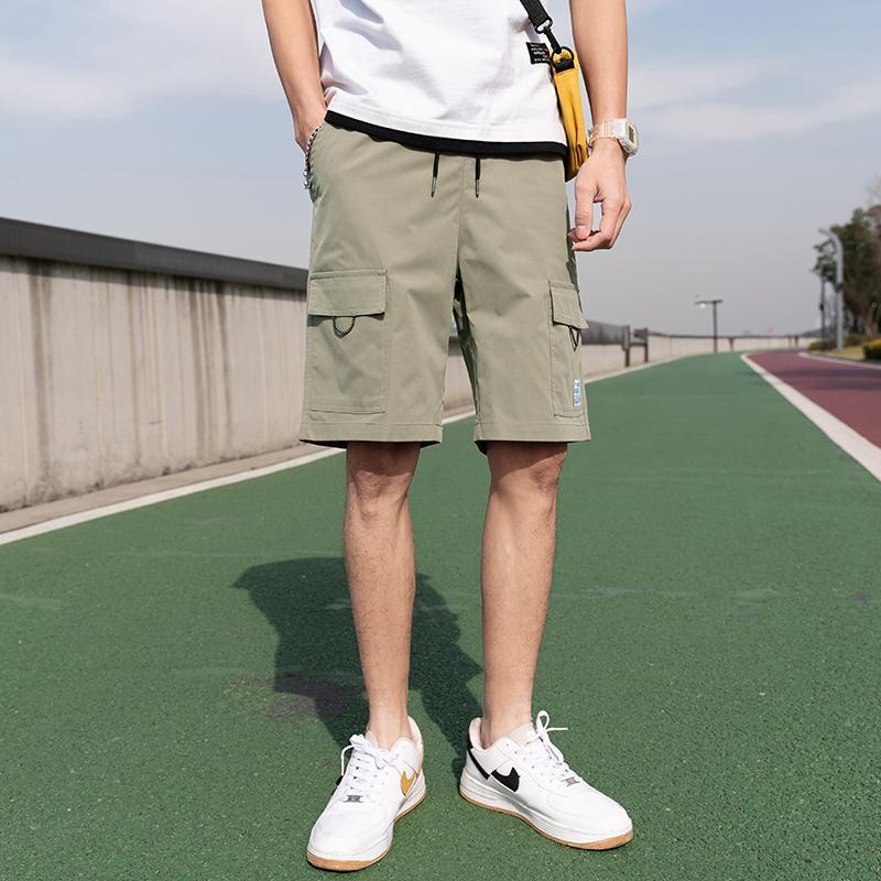 Мужские шорты Большой карманный лето 2021 хлопок подходит повседневные спортивные штаны Мужской сплошной черный ArmyGreen Boardshorts Homme бренд одежда 4XL