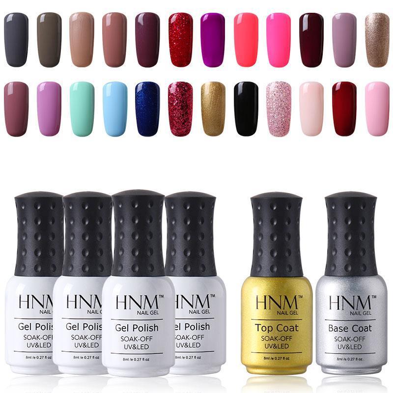 Nail Art Kits HNM 12pcs/lot Set Pure Color Series Polish Nails Kit Profesional Gelpolish Paint Gellak Hybrid Varnish Sets