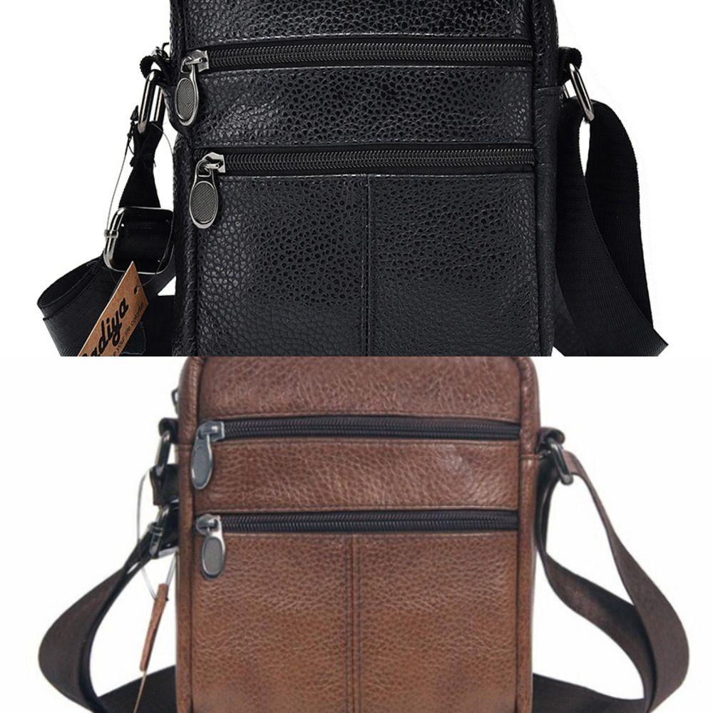 Casual Men Handbag Brief Shoulder Bags Man Solid Leather Messenger Bag Business Crossbody Bag Male Retro Luxury Travel Pouch C0224