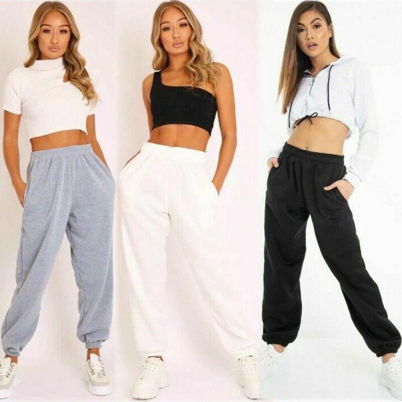 Kadın Pantolon Capris 2021 Spor Moda Kadınlar Elegent Bayanlar Yüksek Bel Gevşek Zarif Rahat Uzun Pantolon Kadın Katı