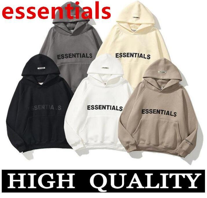 2021 Warm Essentials con cappuccio con cappuccio Mens Womens Fashion Streetwear Pullover Felpe Felpe allentate Felpe con cappuccio Amanti Abbigliamento