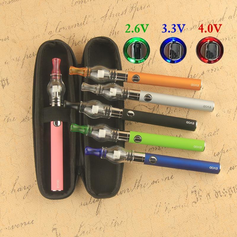 Preheat VV Evod Ecig Wax Vape Pen e sigaretta Kit Starter 510 Discussione EGO-T Batteria M6 Globo Globo Globo Atomizzatore con custodia con cerniera GGO Vaporizzatore