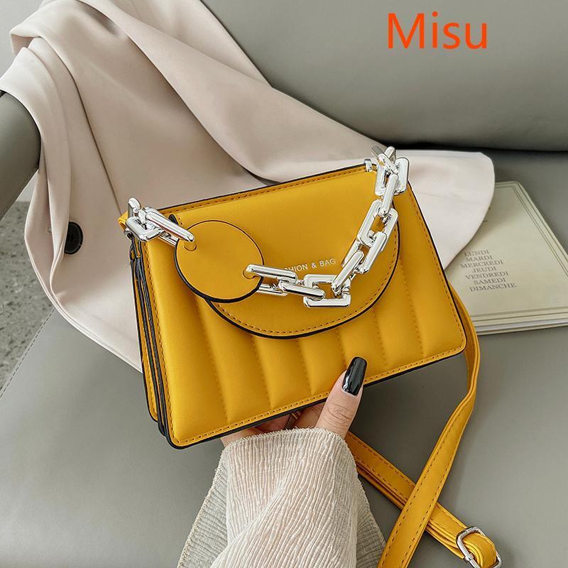 Элегантная сумка для женской цепи 2021 мода новая высококачественная кожа женская дизайнерская сумка сплошной цветной мешок