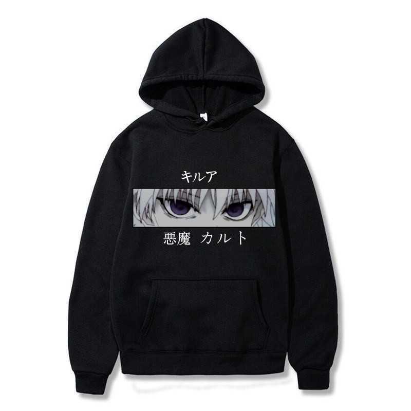 Японское аниме Охотник х Охотник Killua Leorio Kurapika Gon Hiska Pullover Hoodie Streetswear Tops Mode Hoodie Frueen / MN X0610
