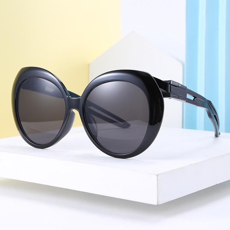 Sunglasses 2021 Vintage Small Round Fishing Women Men Classic Retro Coating Sun Glasses Driving Eyewear Black Red UV400