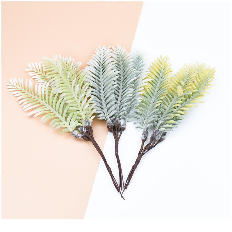 6pcs 인공 식물 장식 꽃 화환 홈 웨딩 DIY 플라스틱 물 잔디 Scra qyljdj