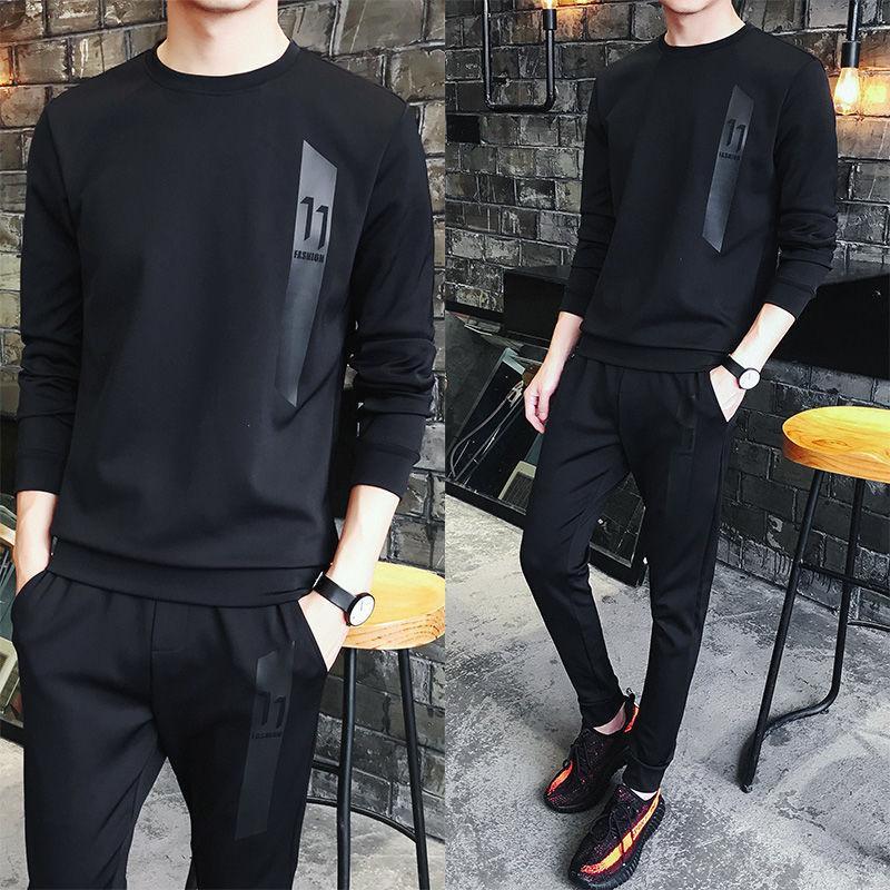 Automne Hommes convient à la mode coréenne Cool Casual Sportswear automne Homme costume