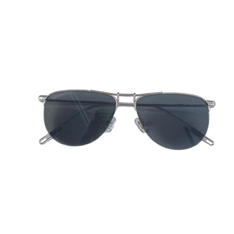 Summer Sunglasses For Men and Women style swing Anti-Ultraviolet Retro Plate Oval Half Frame Special design Eyeglasses Random Box