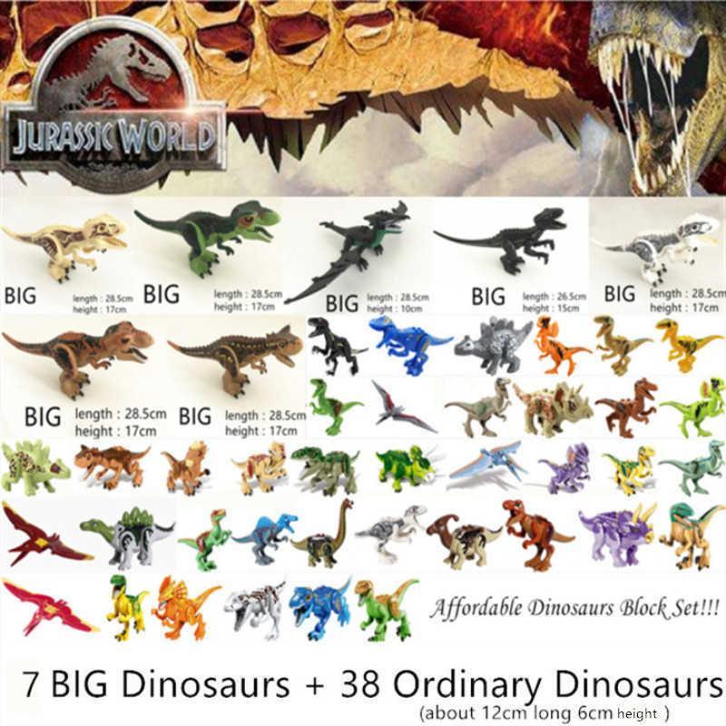 쥬라기 세계 공원 공룡 가족 빌딩 블록 저렴한 세트 Tyrannosaurus 렉스 교육 완구 선물 C0603