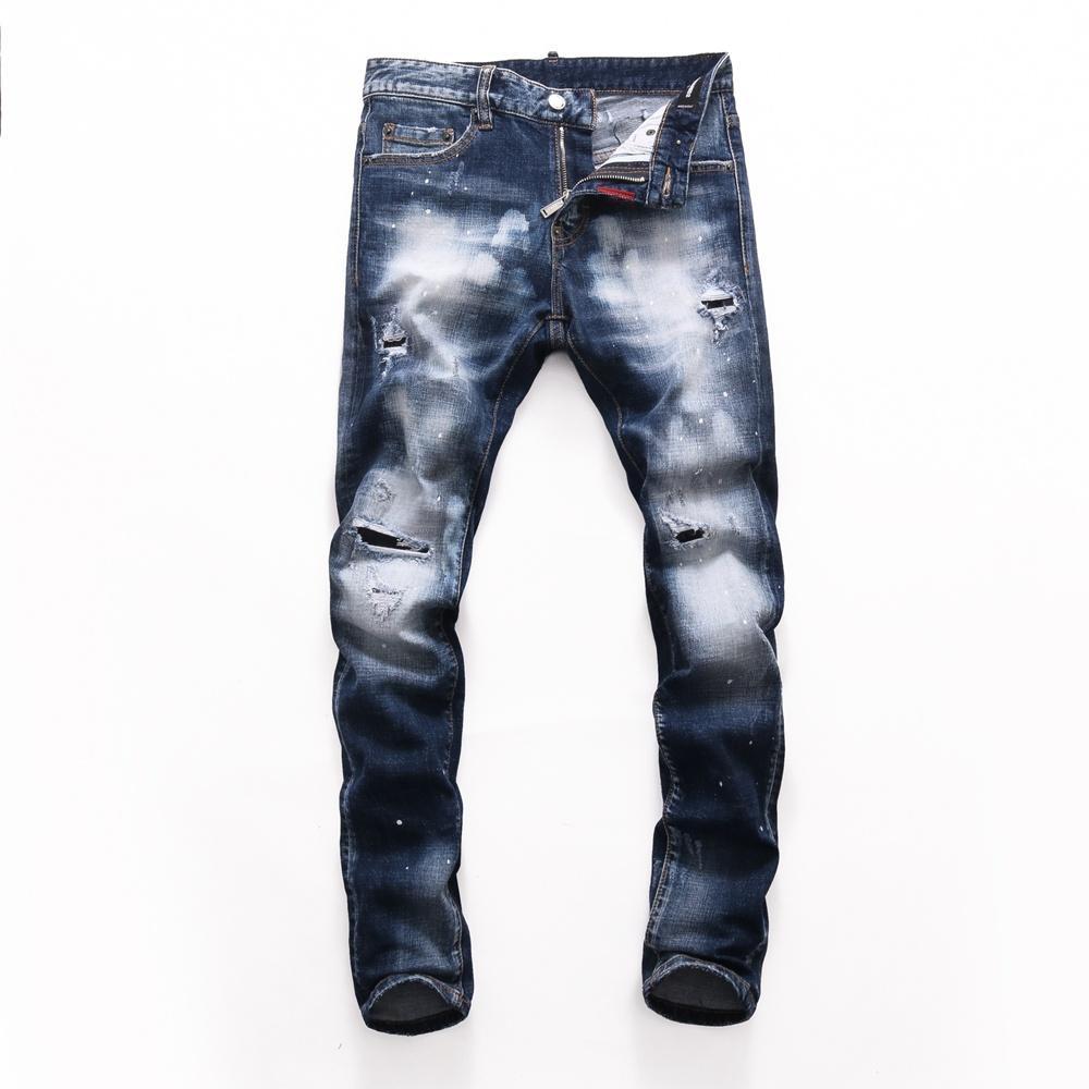 2021 Neue Marke der modischen europäischen und amerikanischen Männer Lässige Jeans, hochwertiges Waschen, reines Handschleifen, Qualitätsoptimierung LTD2791