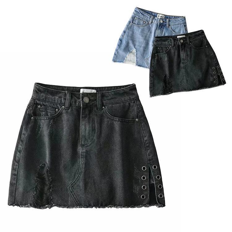 Модный случайные и универсальные моды, короткие с шерстяными подол для женской новой высокой талии Slim A-Line юбка летом