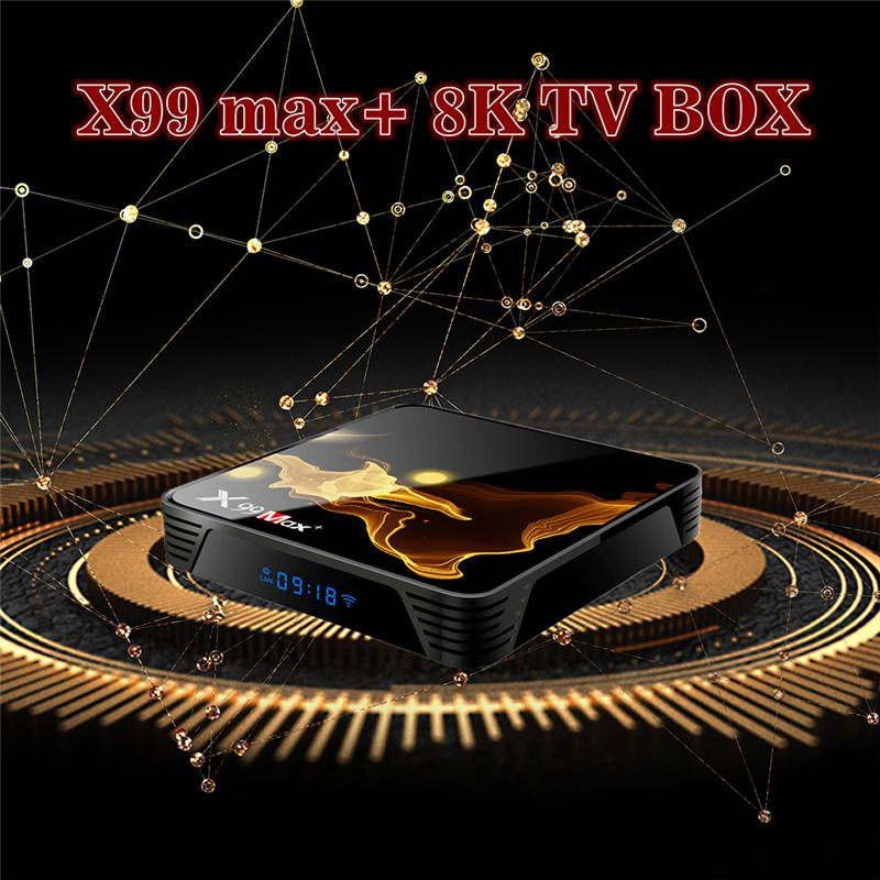 X99 Max Plus Smart TV BOX Amlogic S905X3 Android 9.0 Set Top Boxes 2.4G & 5G WiFi 1000M BT4.1 Quad Core 8K TVBOX Media Player G31 GPU