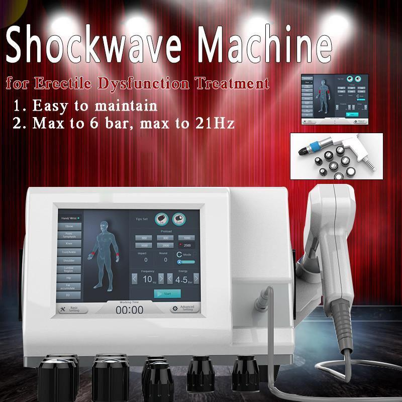 Portable Gainswave Treatment Erectile Dysfunction Shock Wave Physical Therapy Machine For Muscle Stimulator Pneumatic With Ce Approved