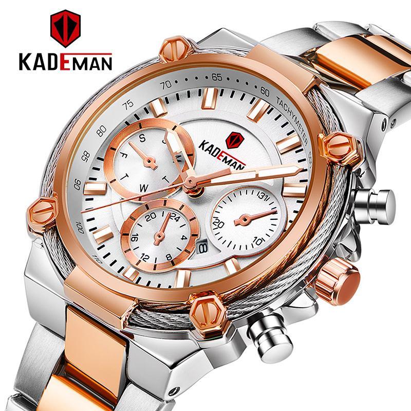 KADEMAN Luxo Moda Mulheres Relógios Impermeável Casual Quartzo Ladys Watch para Mulher Vestido Senhoras Relógios Relógios Relogio Feminino C0227