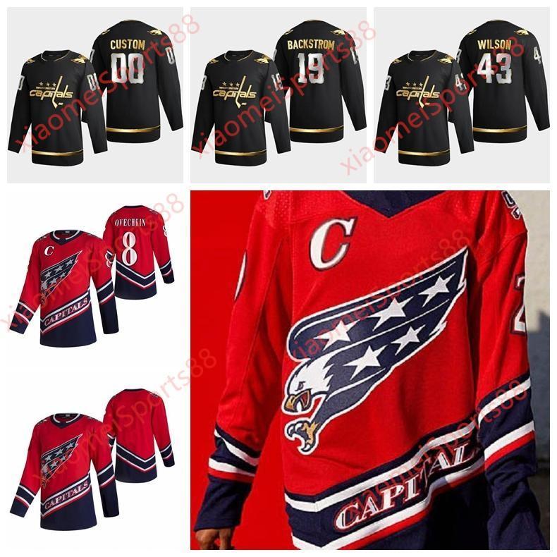Washington Capitales 2021 Retro Retro Hockey Jerseys Lars Eller Chandler Stephenson Brenden Dillon Brooks Orpik Carl Hagelin Custom Steitche