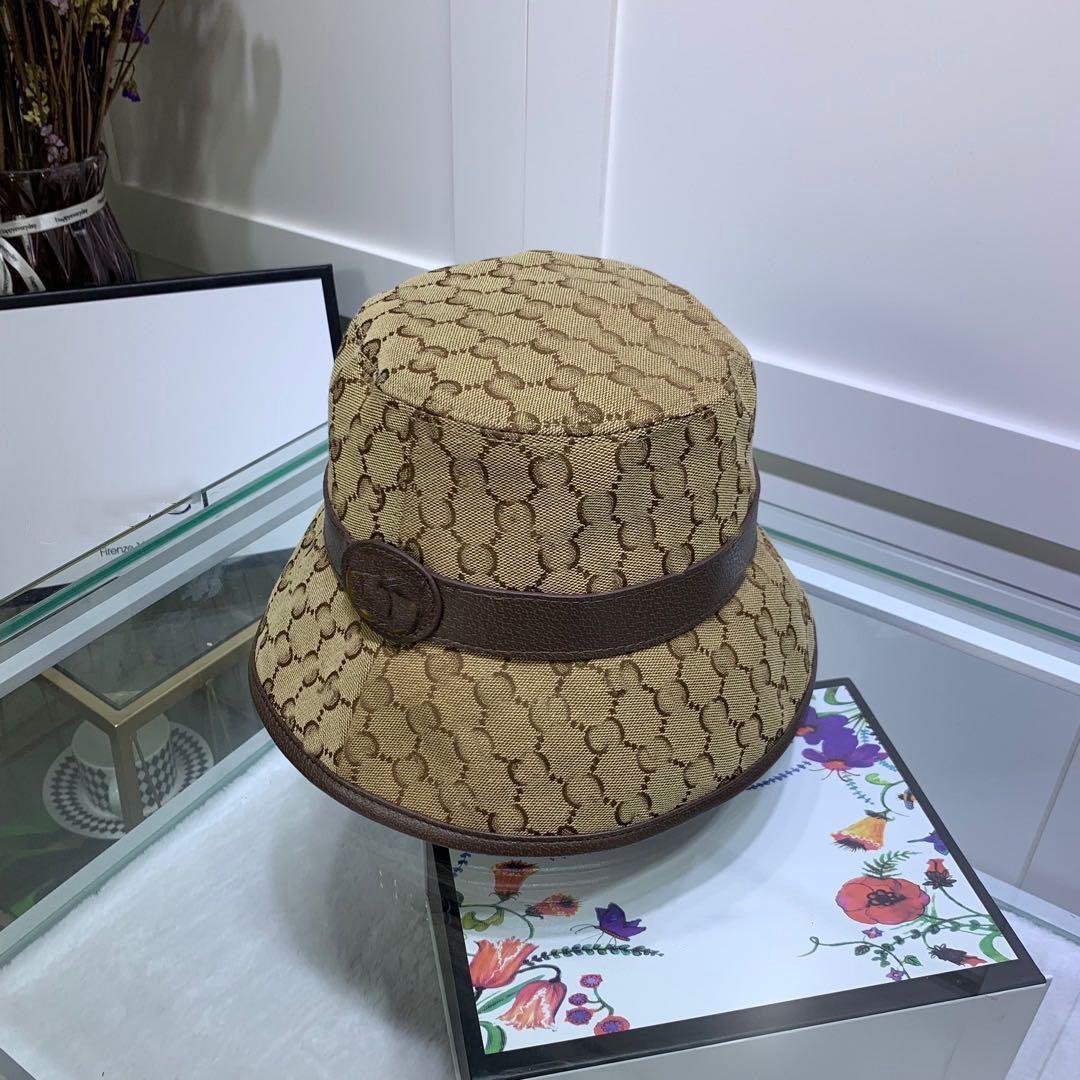 Primavera Summer Stingy Brim Cap Barrel Hat Designer Jacquard Caps Fashion Pescatore uomo e donna Cappelli