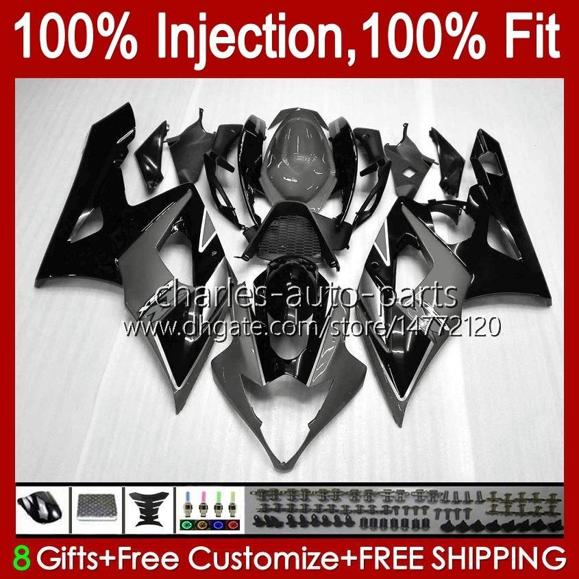 ODYWork para Suzuki GSXR-1000 K5 GSXR1000 05 06 Kit corporal Caliente Rojo Silvery 11HC.102 GSX R1000 GSXR 1000 2005 2006 GSX-R1000 05 06 Carreyo + Cowl